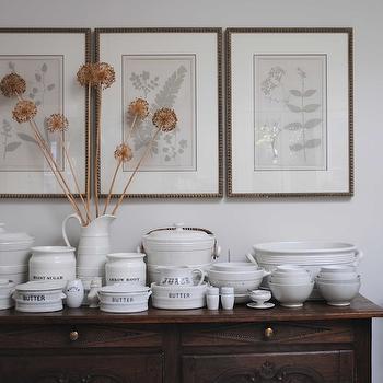 Framed botanical prints cottage dining room loi thai for Dining room framed art