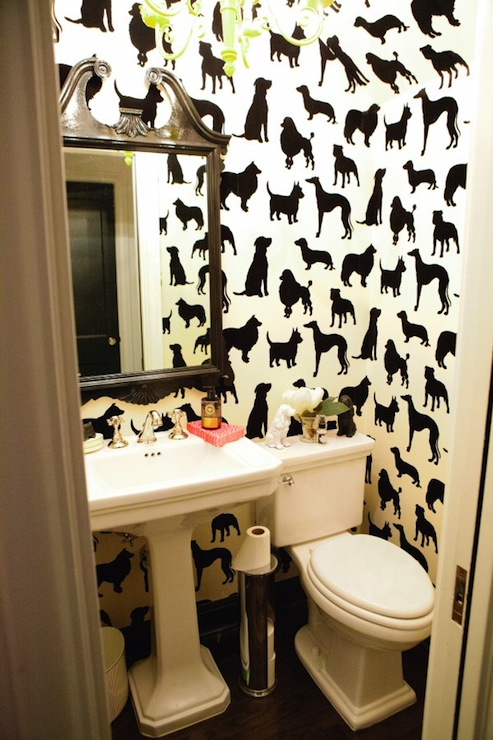 Best in show wallpaper eclectic bathroom peppermint for Best wallpaper for bathrooms