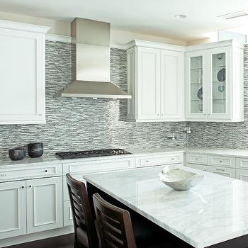 Blue Mosaic Tile Backsplash, Contemporary, kitchen, Anthony Tahlier Photography