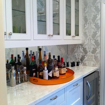 Metallic damask wallpaper design ideas for Kitchen cabinets lowes with damask decals wall art