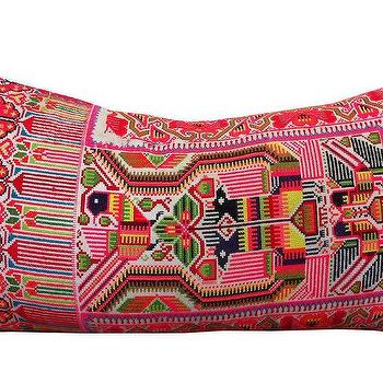 Pink Embroidery Pillow, Shoppe by Amber Interior Design