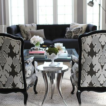Kelly Wearstler Fabric Contemporary Living Room
