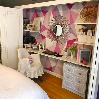 Closet Office, Contemporary, den/library/office, C2 Mod, Gorgeous Shiny Things