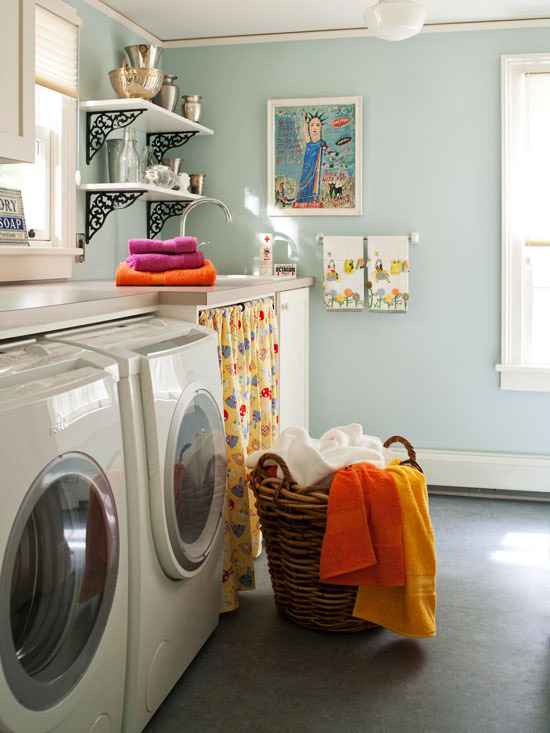 Iron corbels design ideas - Laundry room small space ideas paint ...