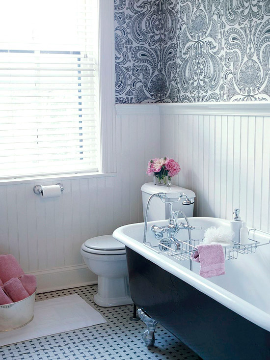 white beadboard bathroom transitional bathroom bhg