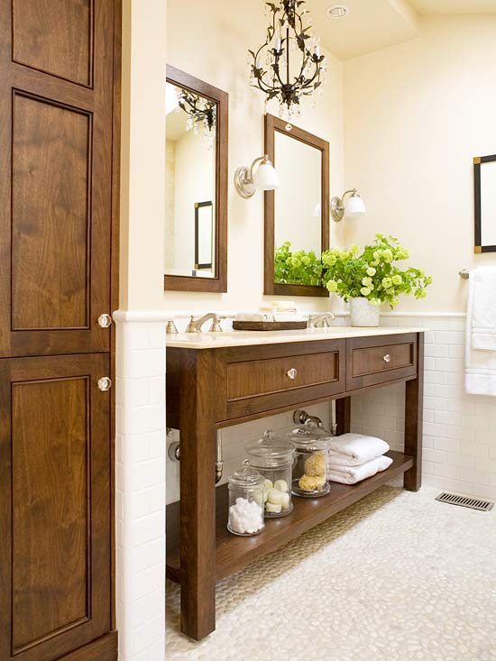 Pebble Floor - Cottage - bathroom - BHG