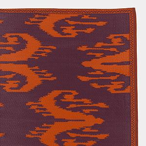 4' x 6' Orange and Violet Ikat Rio Mat, Outdoor and Patio Decor| Home Decor, World Market