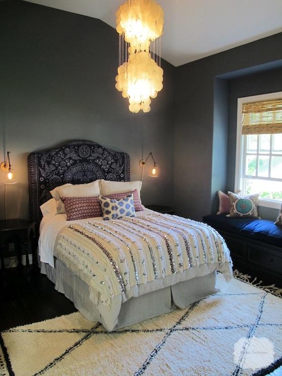 Moroccan Headboard Mediterranean Bedroom Amber Interiors