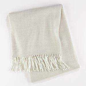 Camel and Ivory Herringbone Throw, Pillows and Throws  Home Decor, World Market