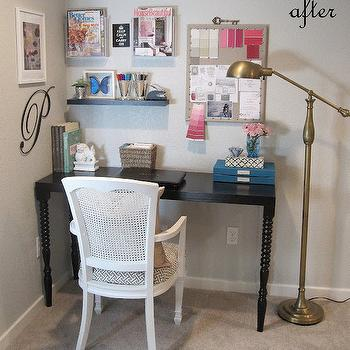 Black Console Table Used As Desk From Homegoods Design Ideas