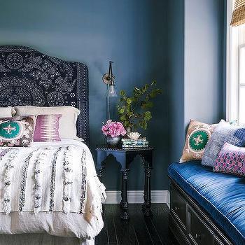 Moroccan Headboard, Mediterranean, bedroom, Amber Interiors