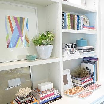 Bookcase Vignette, Contemporary, den/library/office, Amber Interiors