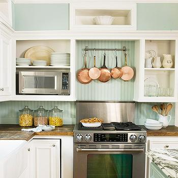 Beadboard Backsplash, Cottage, kitchen, BHG