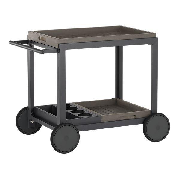 Alfresco Grey Cart in Outdoor Dining - Crate and Barrel