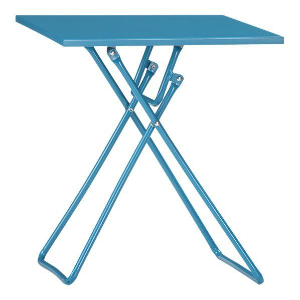 To Go Turquoise Folding Side Table In Outdoor Lounging   Crate And Barrel