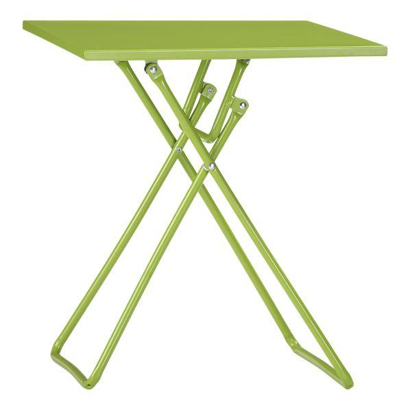 Green Metal Folding Accent Table Outdoor And Patio