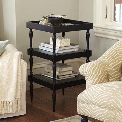 george tiered table european inspired home furnishings ballard designs. Black Bedroom Furniture Sets. Home Design Ideas