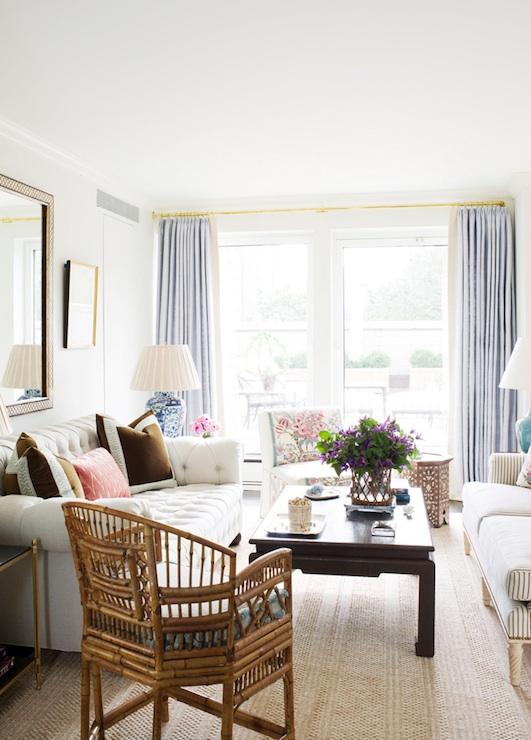 Velvet Chesterfield Sofa Contemporary Living Room