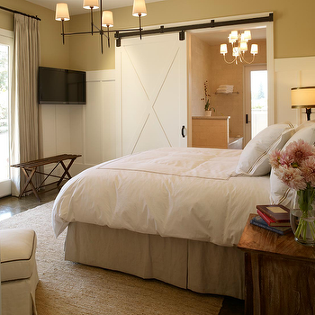 Bathroom Barn Door, Transitional, bedroom, Michael Venera Photography