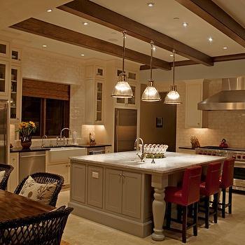 Red Bar Stools, Transitional, kitchen, Kruger Design Studio