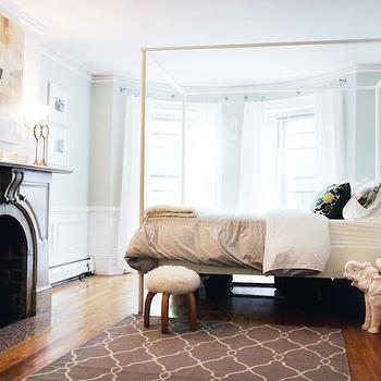 Gray Trellis Rug, Contemporary, bedroom, The Every Girl