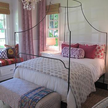 Anthropologie Italian Campaign Canopy Bed, Contemporary, bedroom, Amber Interiors