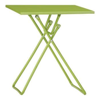 To-Go Green Folding Side Table in Outdoor Lounging, Crate and Barrel
