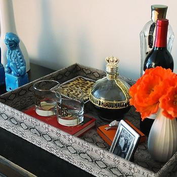Faux Python Tray, Contemporary, living room, The Every Girl