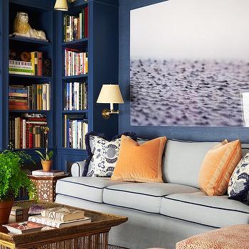 Built In Bookshelves, Transitional, den/library/office, Ashley Whittaker Design