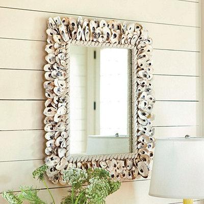 Oyster shell mirror european inspired home decor ballard designs - European inspired home decor photos ...