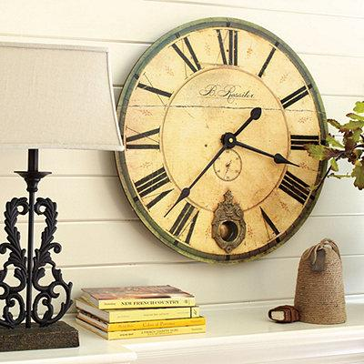30 inch wall clock Sheffield Clock 30 inch   Ballard Designs 30 inch wall clock