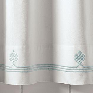 Aqua Gobi Shower Curtain, Serena & Lily