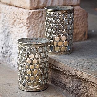 Serena Antique Mercury Glass Hurricane Lamps Pottery Barn