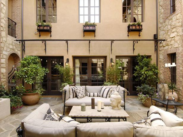 Outdoor Sofas - Transitional - deck/patio - HGTV