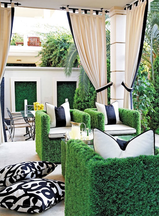 Faux Grass Chairs, Contemporary, deck/patio, Traditional Home