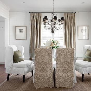 Damask Dining Chairs, Traditional, dining room, Heather Scott Home