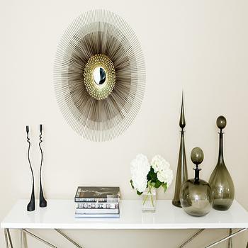 Gray Vases, Contemporary, entrance/foyer, Weitzman Halpern Design