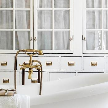 Apothecary Cabinets & White Bathroom Cabinets Design Ideas