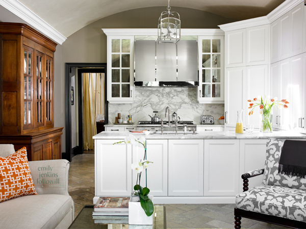 Barrel Ceiling Design Transitional Kitchen Emily
