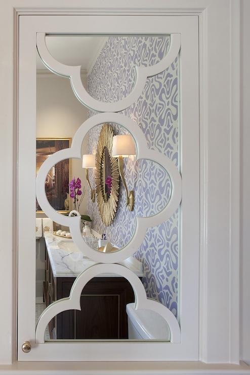 Quatrefoil Mirror Contemporary Bathroom Artistic