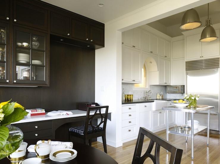 Kitchen Design Black Granite Countertops. Built In Desk  Transitional kitchen Artistic Designs for Living
