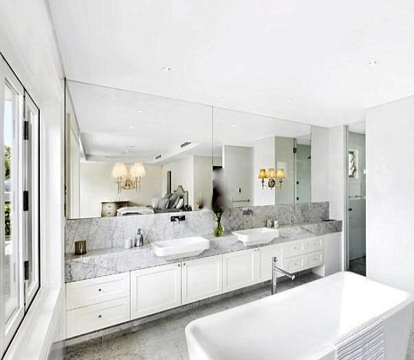 Floating Double Bathroom Vanity Contemporary Bathroom