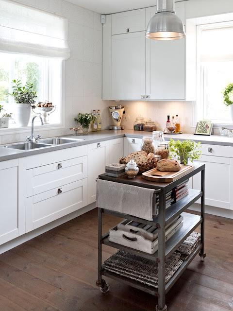 Gorgeous Kitchen With Hand Scarped Wood Floors, Floor To Ceiling White  Kitchen Cabinets, Gray, Quartz Countertops, White Linen Roman Shade And Metal  Kitchen ...