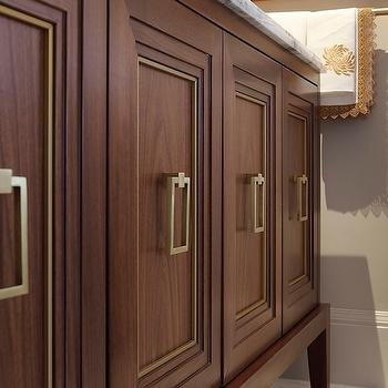 Brass Cabinet Pulls, Contemporary, bathroom, Artistic Designs for Living