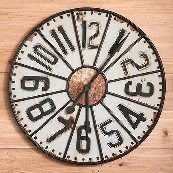 Kenneth Wingard Large Sunburst Wall Clock In Steel Ob852