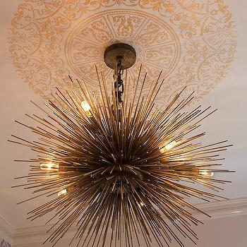 Brass Sea Urchin Pendant, Contemporary, bathroom, Artistic Designs for Living