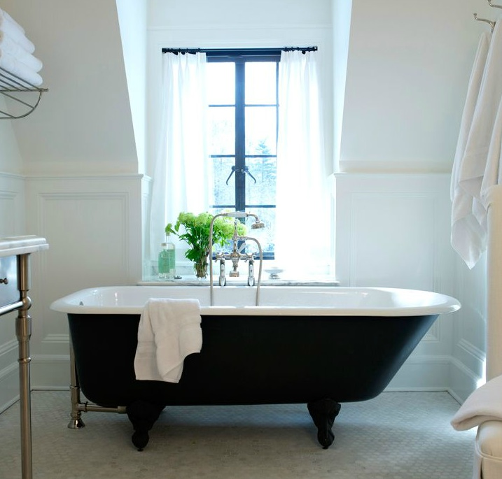 Cast iron Bathtub - Transitional - bathroom - Sage Design