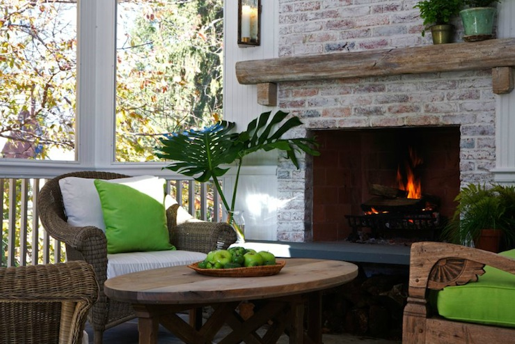 Corner Patio Fireplace Design Ideas