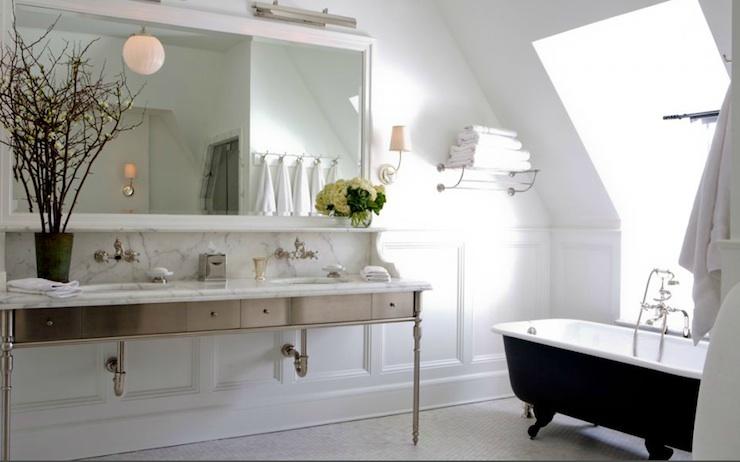 Metal Double Vanity Transitional bathroom Sage Design – Metal Bathroom Cabinet