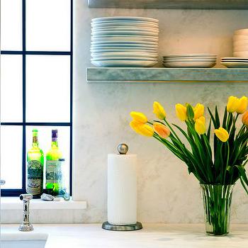 Marble Kitchen Shelves, Transitional, kitchen, Sage Design